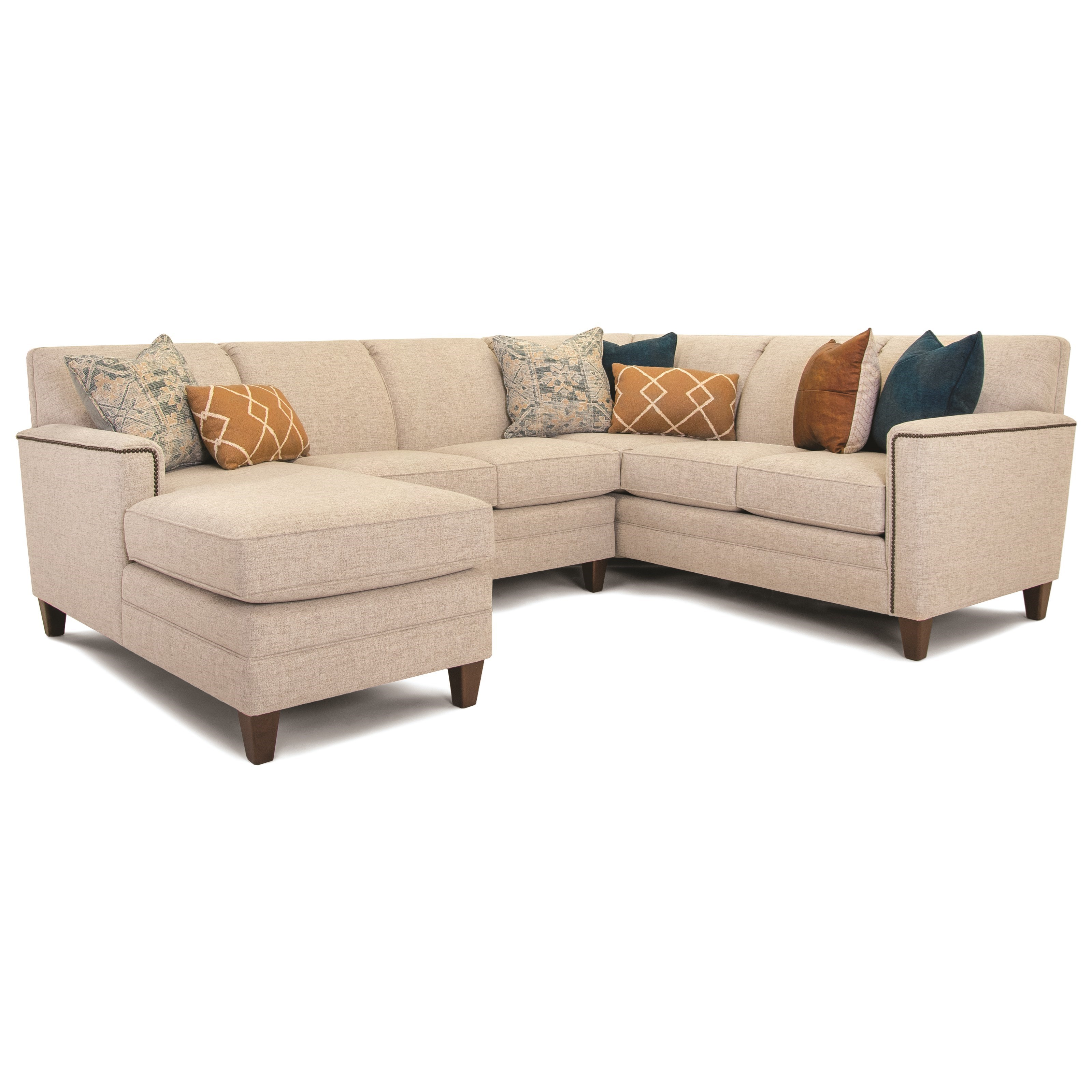 Build Your Own 3000 Series Customizable 3-Piece Chaise Sectional by Smith Brothers at Pilgrim Furniture City