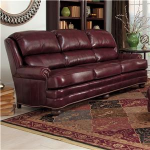 Upholstered Leather Stationary Sofa