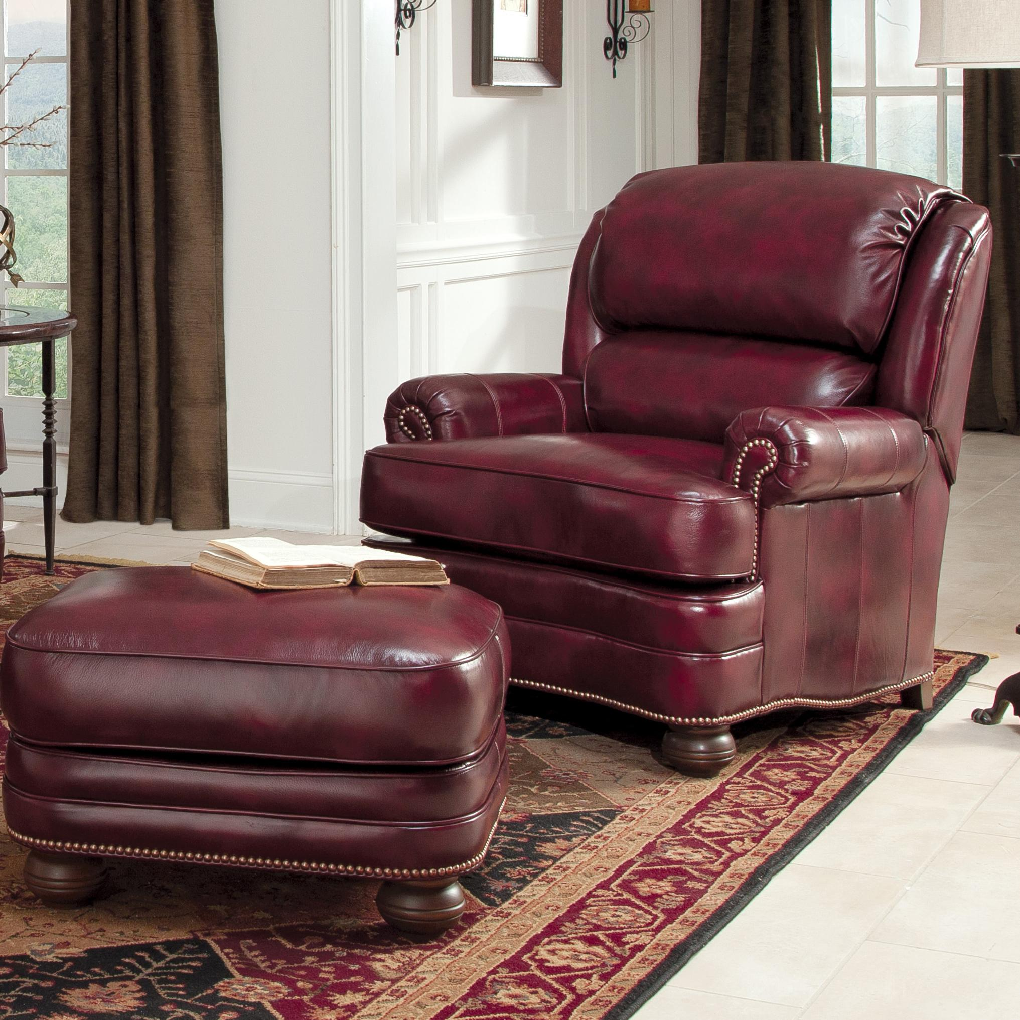 311 Upholstered Chair and Ottoman by Smith Brothers at Turk Furniture