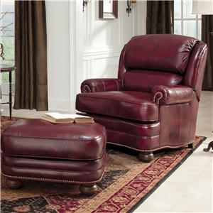 Smith Brothers 311 Upholstered Chair and Ottoman