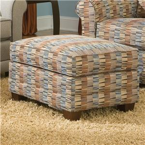 Casual Ottoman with Tapered Wood Legs