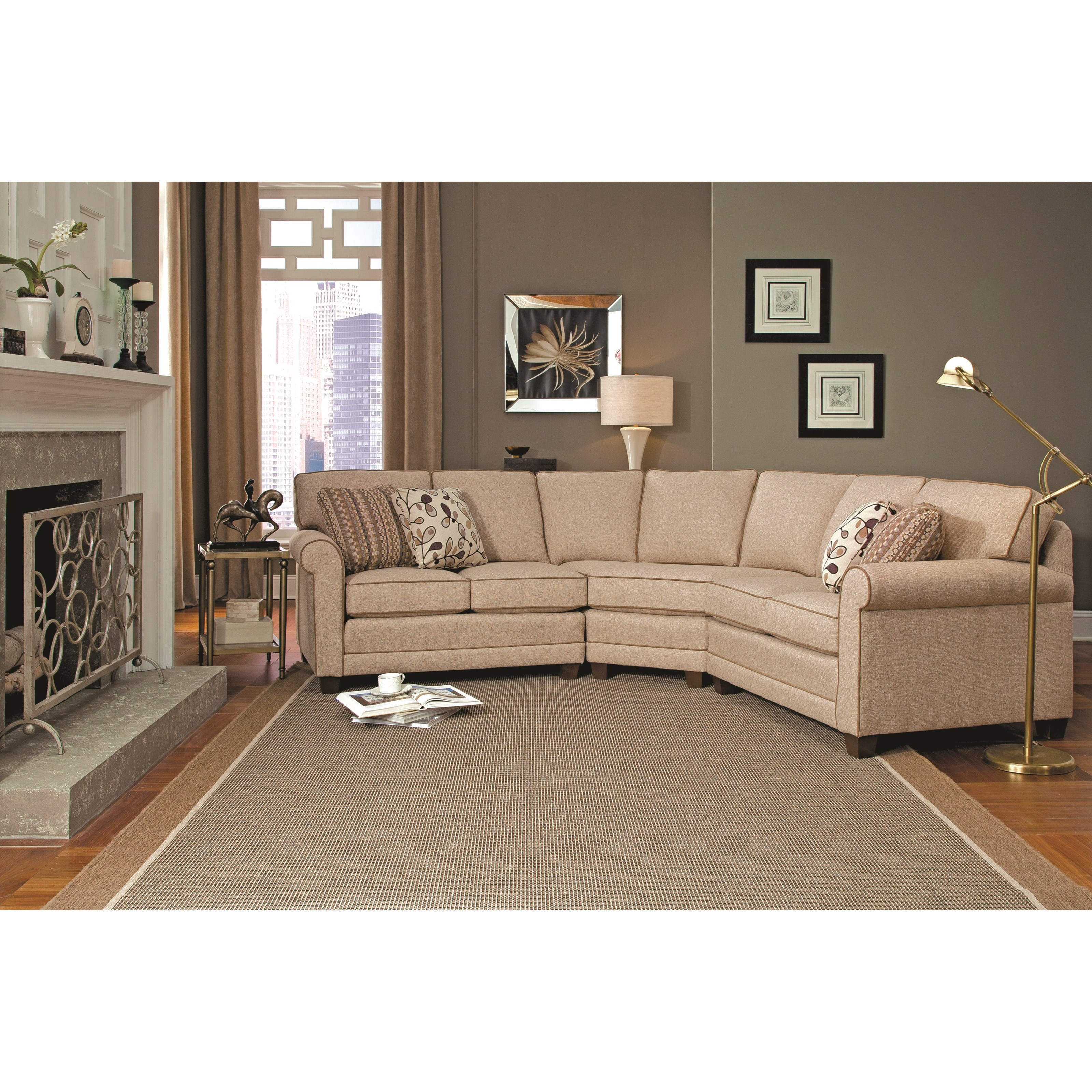 366 3-pc Sectional by Smith Brothers at Mueller Furniture