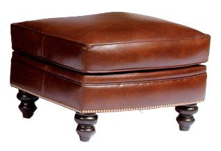 383 Customizable Upholstered Ottoman by Smith Brothers at Mueller Furniture