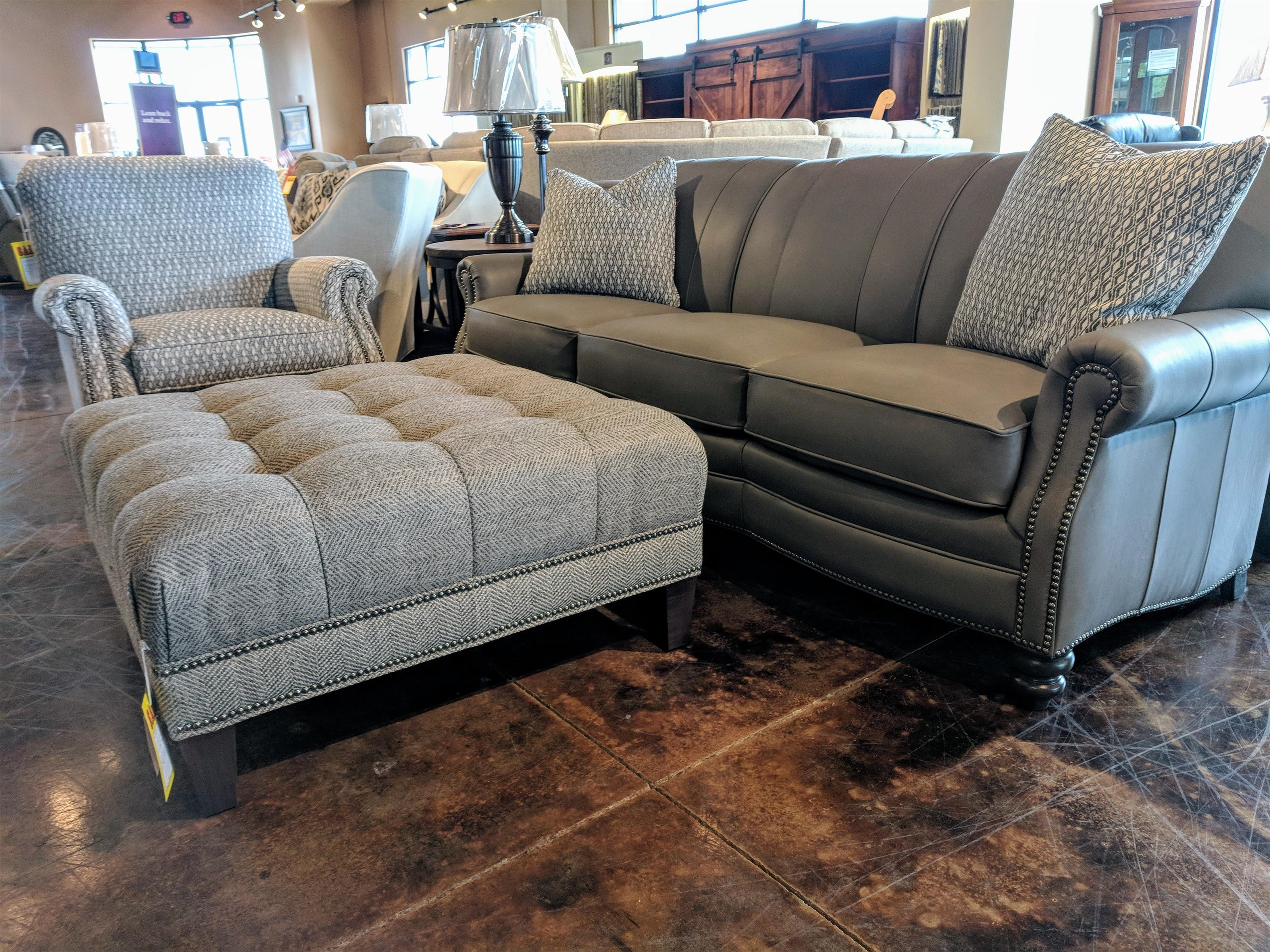 383 Customizable Sofa by Smith Brothers at Mueller Furniture