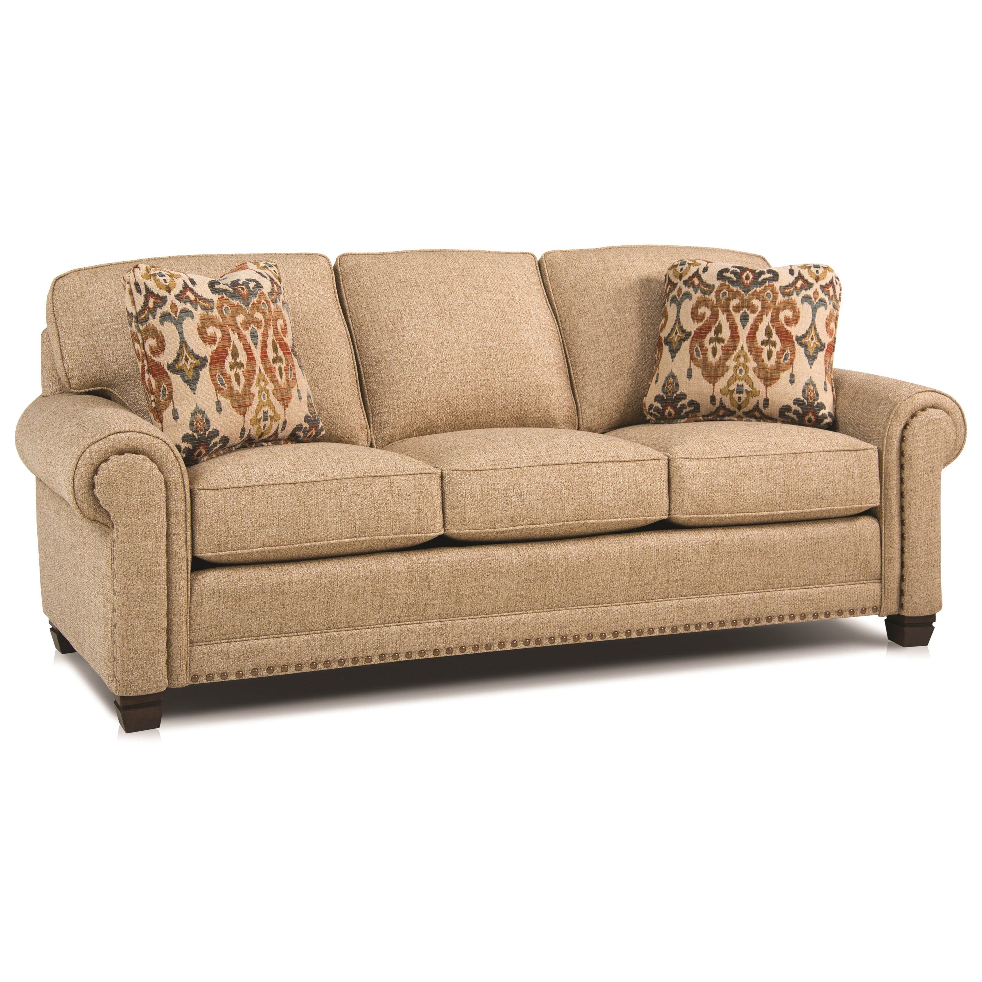 393 Traditional Stationary Sofa by Smith Brothers at Saugerties Furniture Mart