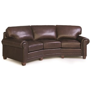 Traditional Conversation Sofa with Nailhead Trim