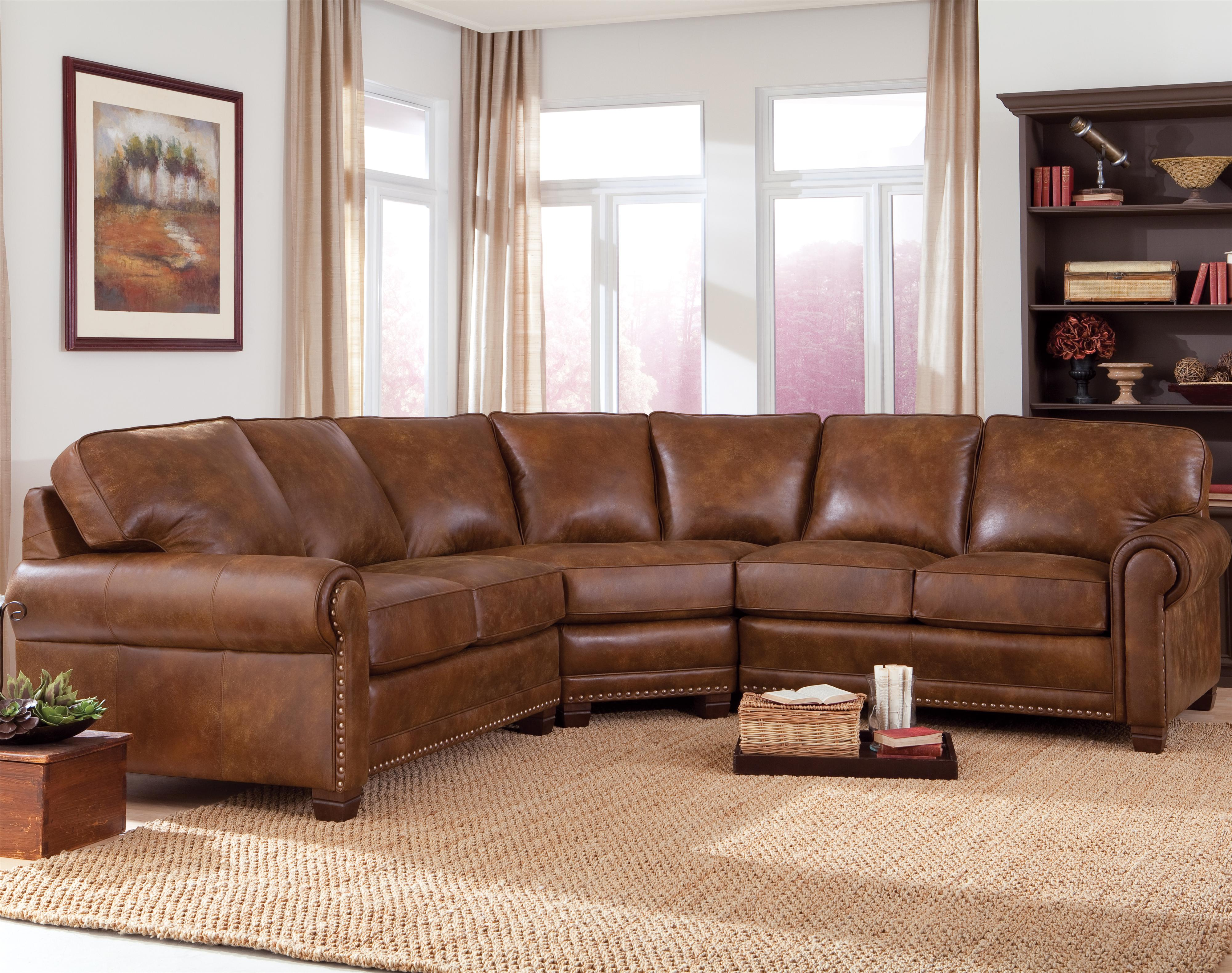 393 Sectional by Smith Brothers at Turk Furniture