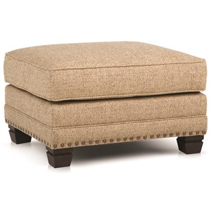 Traditional Ottoman with Nailhead Trim