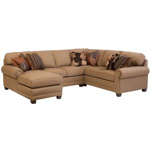 Traditional 3-piece Sectional Sofa with Left-Arm-Facing Chaise
