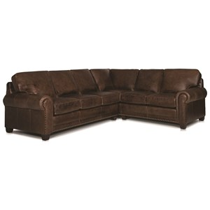 Traditional 2-piece Sectional Sofa with Nailhead Trim