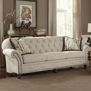 Traditional Large Sofa with Button Tufting