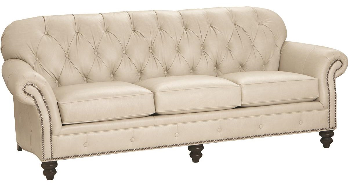 396 100% Leather Sofa by Smith Brothers at Darvin Furniture