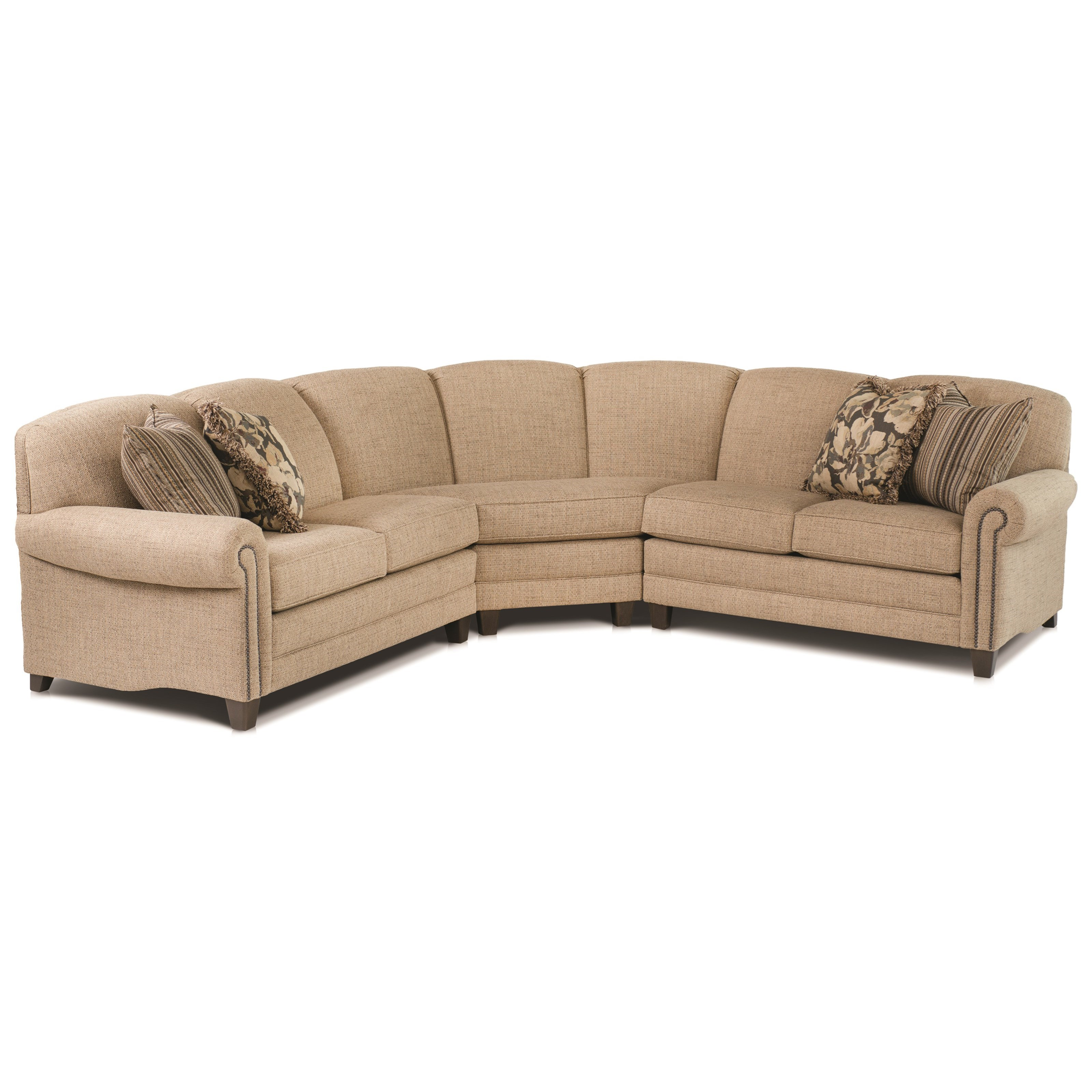 397 Stationary Sectional by Smith Brothers at Westrich Furniture & Appliances