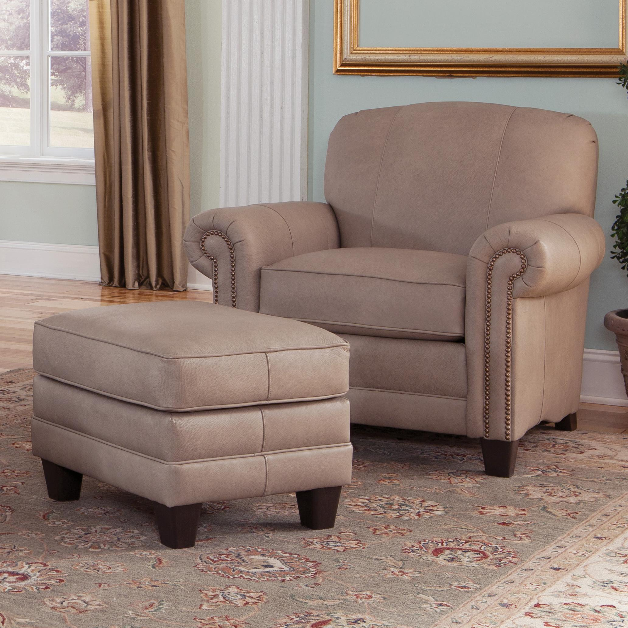 397 Chair and Ottman by Smith Brothers at Saugerties Furniture Mart