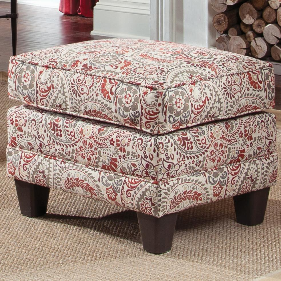 397 Upholstered Ottoman by Smith Brothers at Saugerties Furniture Mart