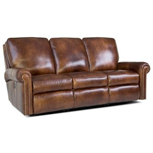 Traditional Reclining Sectional Sofa with Nailhead Trim