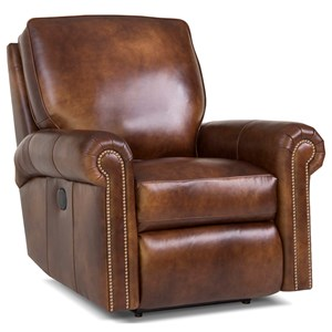 Traditional Motorized Reclining Chair with Rolled Arms