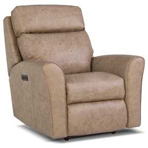 Casual Motorized Recliner with Power Headrest