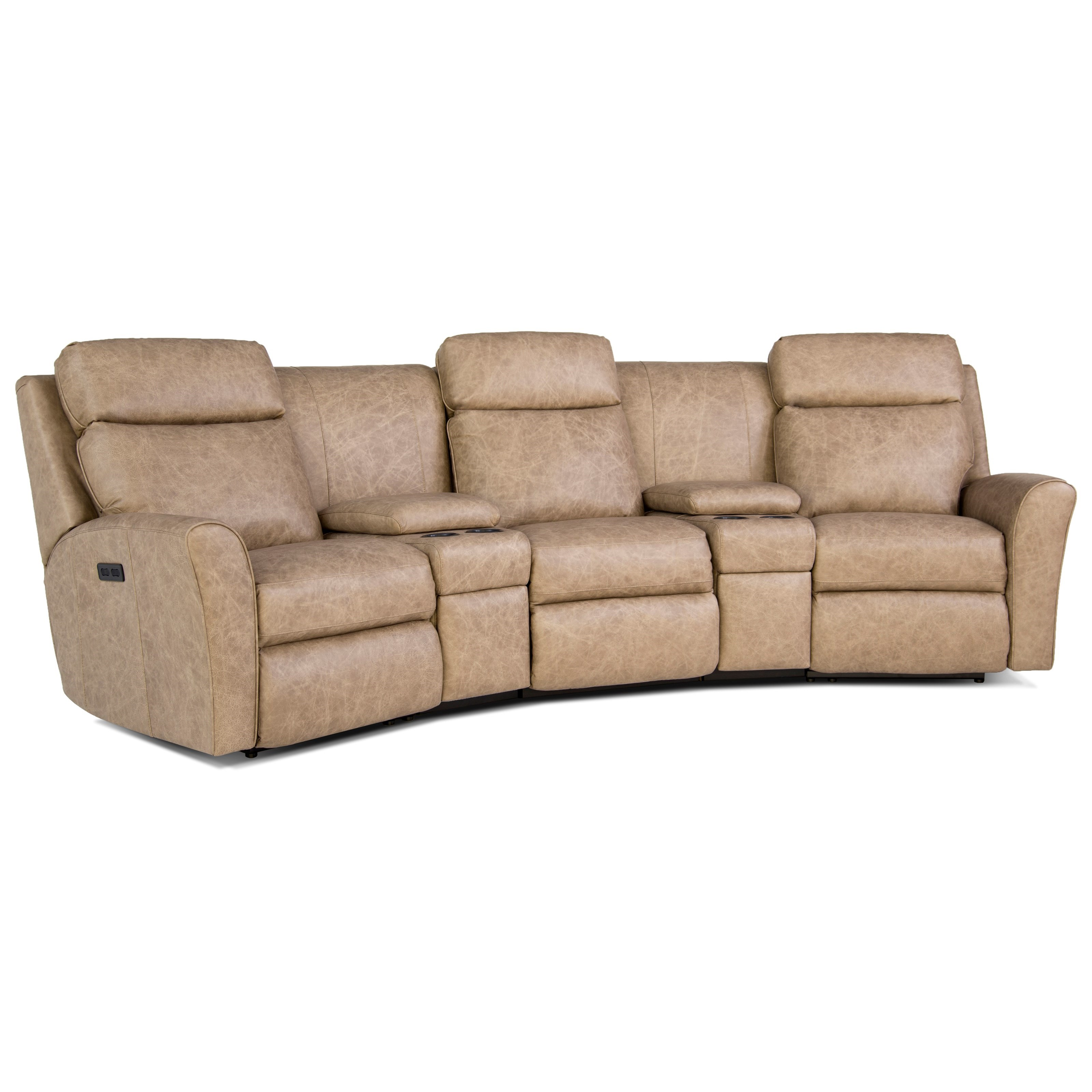 418 Motorized Reclining Conversation Sofa by Smith Brothers at Pilgrim Furniture City