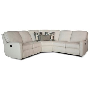 Contemporary Power Reclining Sectional Sofa with Track Arms