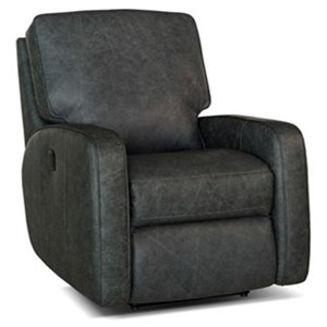 Contemporary Motorized Reclining Chair with Track Arms