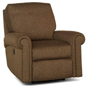 Traditional Swivel Glider Reclining Chair with Nailhead Trim