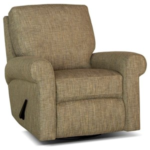 Casual Manual Reclining Chair with Rolled Sock Arms