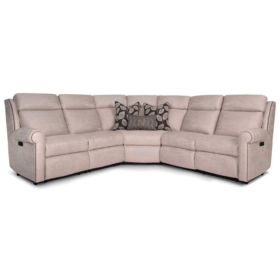 422 Power Reclining Sectional by Smith Brothers at Mueller Furniture