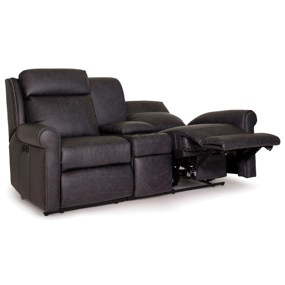 422 Power Reclining Sectional Loveseat by Smith Brothers at Saugerties Furniture Mart