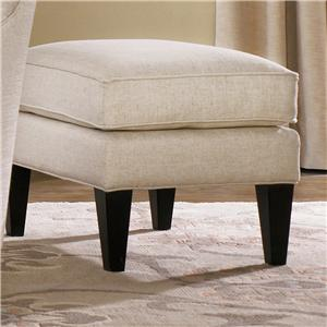 Chair Ottoman with Welt Cords and Wood Tapered Legs