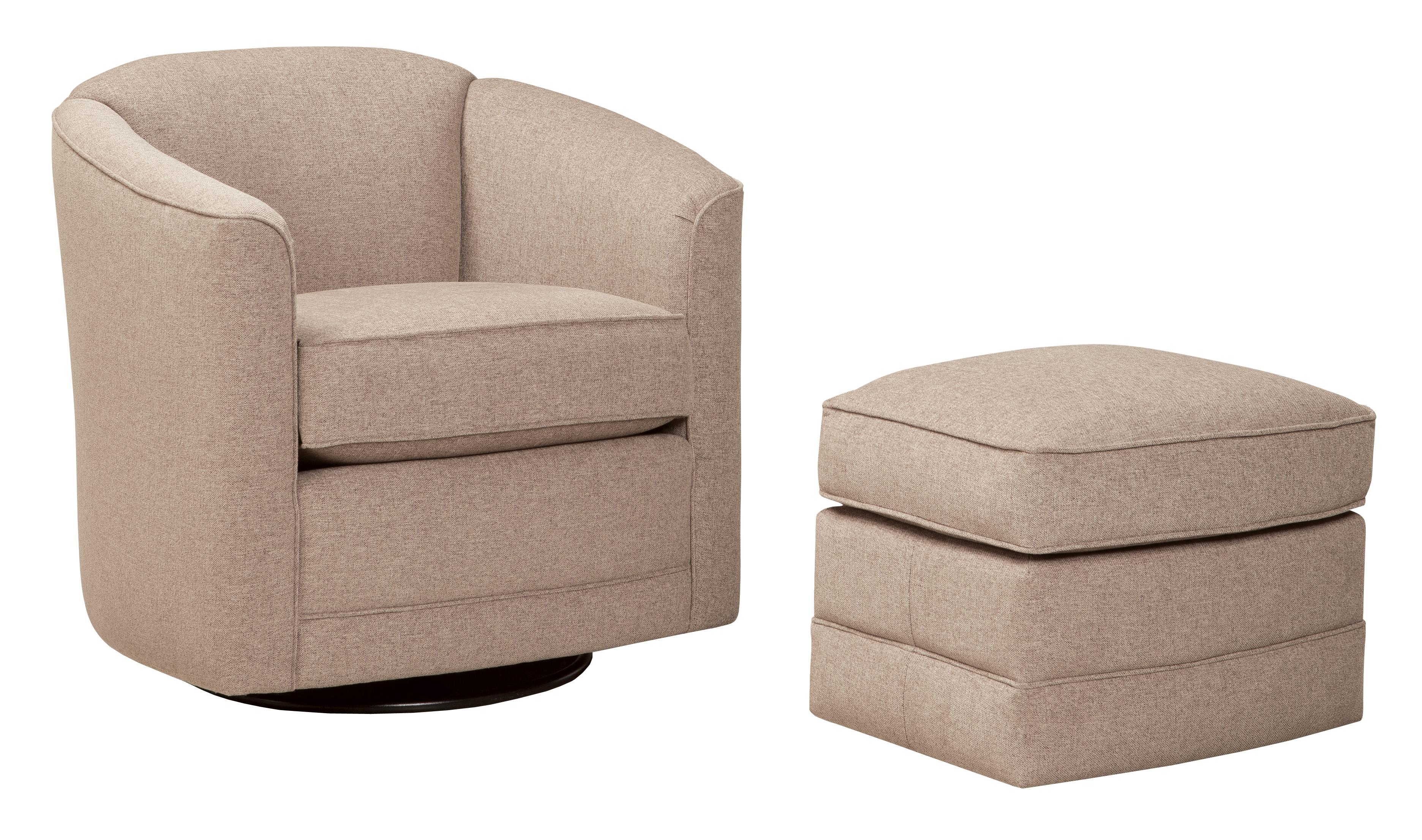 506 Swivel Chair and Ottoman Set by Smith Brothers at Pilgrim Furniture City