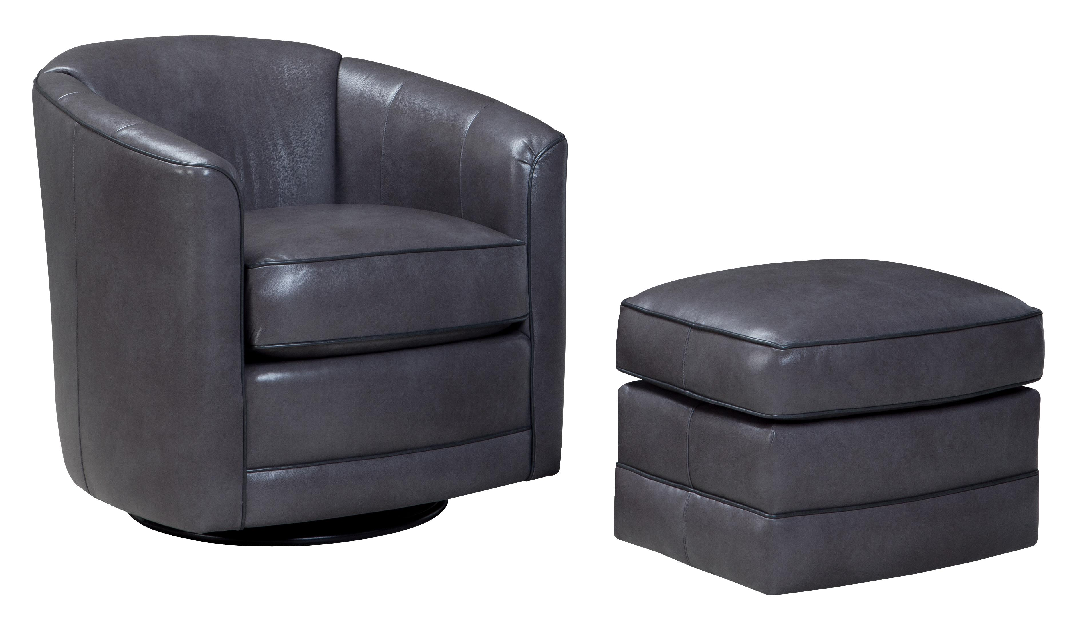 506 Swivel Glider Chair and Ottoman Set by Smith Brothers at Saugerties Furniture Mart