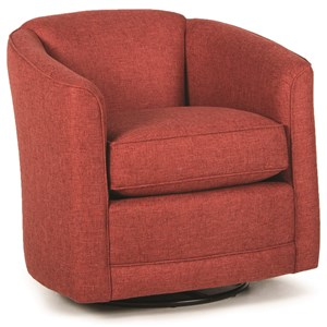 Swivel Glider Chair with Barrel Back