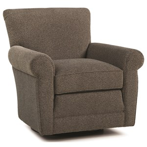 Casual Swivel Glider Chair with Rolled Arms