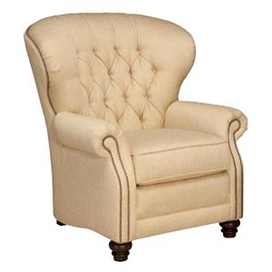Stationary Chair with Tufted Seat Back