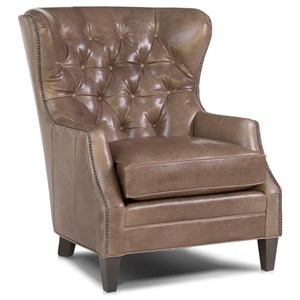 Traditional Chair with Tufted Wing Back