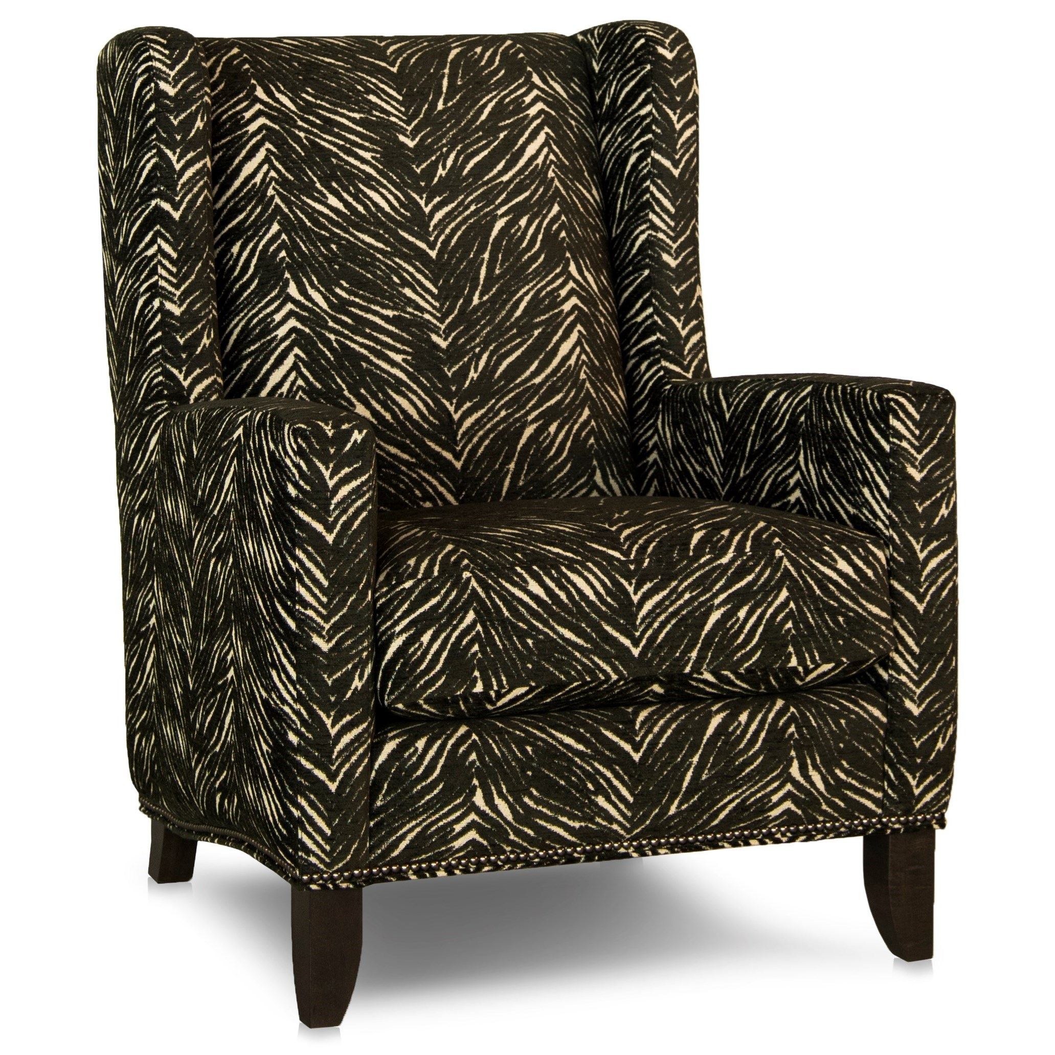 538 Wing Back Chair by Smith Brothers at Mueller Furniture