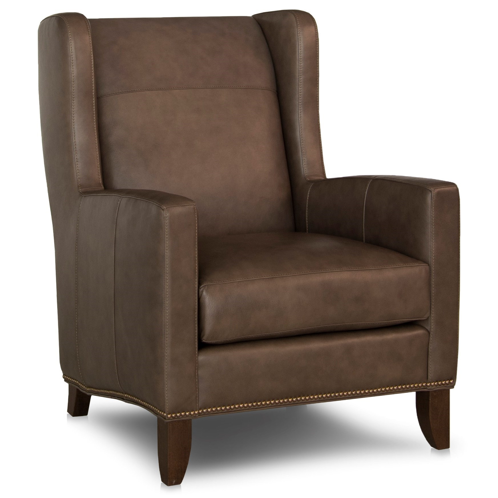 538 Wing Back Chair by Smith Brothers at Rooms and Rest