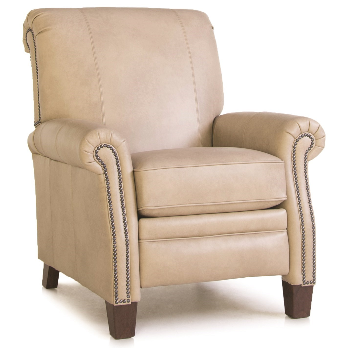 704 High Leg Pressback Recliner by Smith Brothers at Mueller Furniture