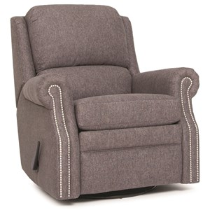 Traditional Manual Reclining Chair with Nailhead Trim