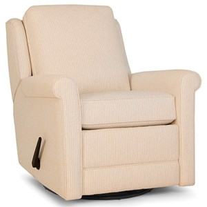 Casual Swivel Gliding Recliner with Sock Rolled Arms