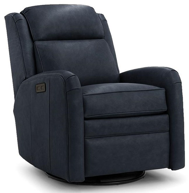 734 Power Swivel Recliner by Smith Brothers at Johnny Janosik