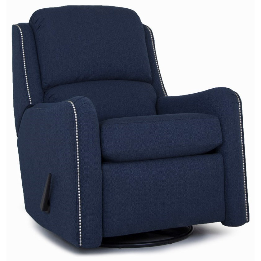 746 Power Swivel Glider Recliner by Smith Brothers at Mueller Furniture