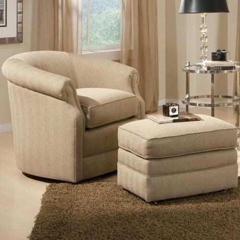 820 Swivel Chair and Ottoman Set by Smith Brothers at Pilgrim Furniture City