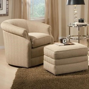 Traditional Swivel Chair and Ottman Set