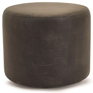 Round Ottoman with Recessed Casters