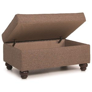 Storage Ottoman with Turned Legs