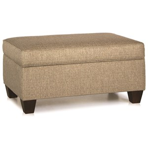 Storage Ottoman with Tapered Wood Legs