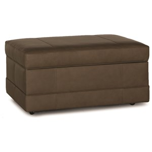 Storage Ottoman with Baseband and Hidden Casters