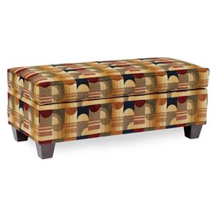 Rectangular Storage Ottoman with Tapered Legs
